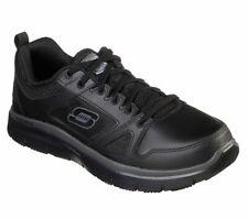 77040 Skechers Para Hombre Flex Advantage antideslizante Cuero Negro Uniforme de trabajo