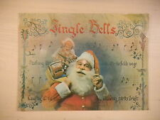 RARE Vintage Christmas Record Card JINGLE BELLS 33 1/3rpm 60s