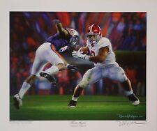 Alabama football Never Again Daniel Moore LE signature edition Trent Richardson