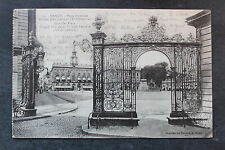 Tarjeta postal antigua NANCY - Plaza Stanislas - Rejilla Jean Lamour (XVIII)
