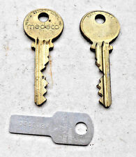 1 Pair Vintage MEDECO   High Security keys         1 side - blank good to stamp