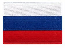 Russia Flag Embroidered Sew/Iron On Patch Patches