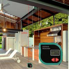 Infrared Ultrasonic Digital Distance Meter Rangefinder Measure Diastimer W/ Tape