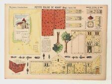 Pellerin Imagerie D'Epinal- 904 Petite Eglise de Noant M. vintage paper model
