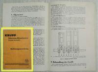 Krupp 60 90 125 PS M402 413 422 Fahrzeug Dieselmotor Bedienungsanleitung ca 1936