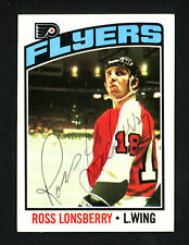 Ross Lonsberry Autographed Signed 1976-77 Topps Card #201 Flyers 154285