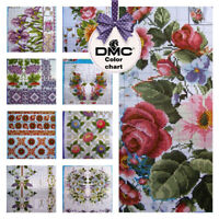 SD-45 Cross stitch patterns Flower Borders Ukrainian Vyshyvanka in Mexican Boho