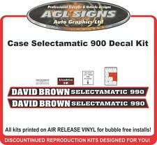 DAVID BROWN Case Selectamatic 990  Reproduction Decal Kit