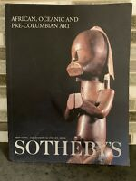 Sotheby's Auction Catalog African, Oceanic And Pre-Columbian Art Nov. 2000