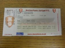 05/10/2002 Ticket: Rotherham United v Portsmouth  (complete). If this item has a
