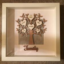 Personalised Family Tree 3D Frame Box Gift Present Keepsake