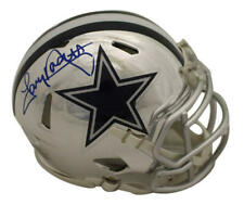 Tony Dorsett Autographed/Signed Dallas Cowboys Chrome Mini Helmet JSA 22786