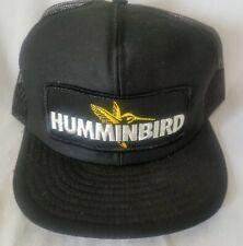Vtg HUMMINGBIRD FISHING TRUCKERS MESH HAT CAP PATCH SNAPBACK LOUISVILLE MFG CO