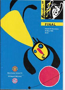 Manchester United v Bayern Munich Champions League Final 26/5/1999 VG