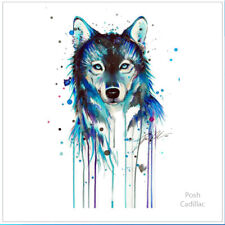 Proud, Pure, Lonely Wolf Waterproof Temporary Tattoo Watercolor Art Lykos Lycos