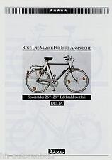 """Prospekt Rixe Delta Edelstahl Sportrad 26"""" 28"""" Fahrrad 1984 Fahrradprospekt bike"""