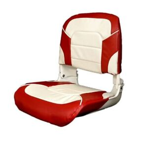 Boat Folding Fishing Seat 75140WR | 18 x 21 Inch Red White