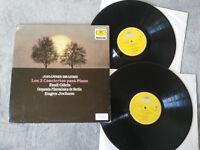 Johannes Brahms 2 Concert para Piano Emil Giles 2 X LP Vinyl G VG+ Deutsche