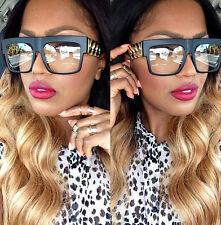 Flat Top Gold Chain Link Hip Hop Rapper Aviator Celebrity Glasses