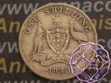 Australia 1933 George V Shilling X1, Average Circulated Condition