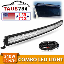 Curved 42inch Led Work Light Bar Spot Flood Combo Driving Lamp Offroad + Harness