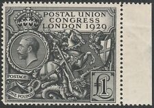 1929 SG438 £1 BLACK PUC UNMOUNTED MINT MNH MARGINAL