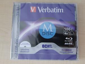 Verbatim M-DISC BD-R XL 100GB 4x, Jewelcase Wide Inkjet printable