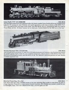 catalogo OVERLAND MODELS INC. August 1987 Dealer Update            E          aa