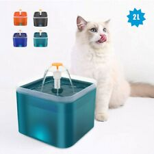 Automatic 2L Electric Pet Water Fountain Cat/Dog Drinking Dispenser Bowl LED USB