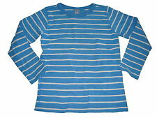 Dopodopo tolles Langarm Shirt Gr. 110 / 116 blau-weiß gestreift !!