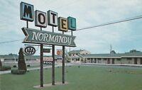(Q)  St. Ignace, MI - Normandy Motel - Signage - Exterior and Grounds