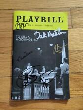 Jeff Daniels Cast Signed To Kill A Mockingbird Broadway Playbill autographed
