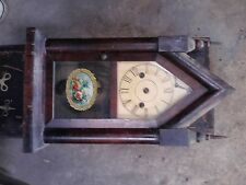 Antique American Steeple Gothic Walnut Victorian Mantle Clock Parts & Repair