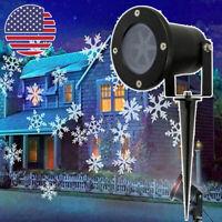 Christmas moving Laser Projector LED Lights Waterproof Landscape Snowflake Light