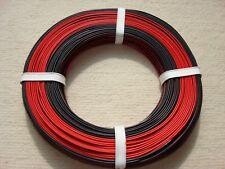 (0,2290 EUR/m) 50m Kabel Litze Zwillingslitze Doppellitze 2X0,14 mm² rot-schwarz