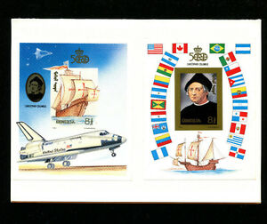Mongolia 1992 Columbus Scott 2102-3 RARE House of Questa Proofs on Official Card