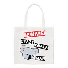 Tenga cuidado con Crazy Koala hombre Small Tote Bag-Australia australiano Gracioso