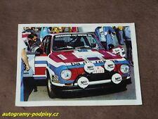 John HAUGLAND (Skoda 130 RS, 1976 Barum Rally) - CZE Karte/card 10x15 cm, RAR!