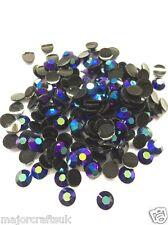 2000 un. Púrpura Azul AB 4mm ss16 Piso Nuevo Resina Strass Arte en Uñas Gemas C69