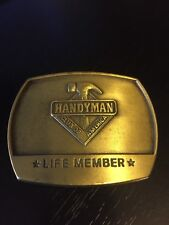 Hammer Handyman Club of America Life Member Belt Buckle 1996 Dimensional