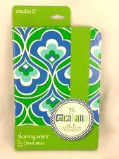 Studio C Slim folio Case for iPad Mini Blue Green White The Cabana Collection