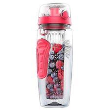 1000ml/32oz Fruit Infusing Infuser Water Bottle Plastic Sports Detox Health W3f2