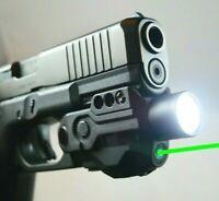 TACTICAL GREEN LASER LIGHT COMBO LED PISTOL GUN RECHARGEABLE BATTERY