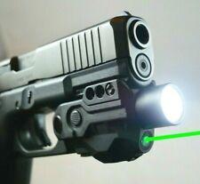 TACTICAL FLASHLIGHT GREEN LASER SIGHT COMBO LED PISTOL GUN RECHARGEABLE GLOCK