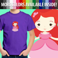 Toddler Kids Boy Girls Tee Youth T-Shirt Little Mermaid Princess Ariel Cartoon