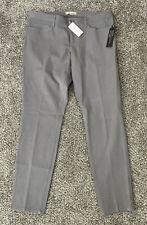 NWT Women's Banana Republic Gray Sloan Fit Dress Pants Size 10R Legging Stretch