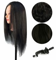 NEW Synthetic HAIR COSMETOLOGY TRAINING MANNEQUIN HEAD BLACK CLEARANCE SALE!