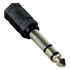 Klinken Adapter 6,35mm Stecker auf 3,5mm Buchse stereo AUDIO HIFI vernickelt