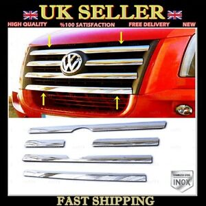 Chrome Front Grill 5 pcs STAINLESS STEEL For VW CRAFTER from 2006 to 2011