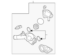 Genuine Land-Rover Thermostat Housing LR005631